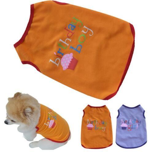 2019 Dog Clothes 2018 Summer Fashion Pet Puppy Cat Boy Girl Birthday Vest T Shirt From Crazyfairyland 12