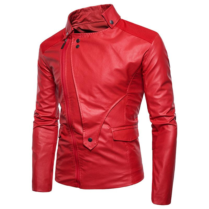 b114b9fabf 2019 Mens Red Leather Jacket Motorcycle Clearance Jacket Young Men Slim Fit  Zipper Blazers For Boys US Fashion Style Plus Size 4XL From Aaronliu880