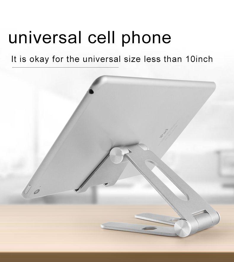 CJ0803 Universal adjustable Aluminum Alloy Cell Phone Tablet PC Desk Holder Mount Metal Foldable tablet Mobile Stand for iphone samsung