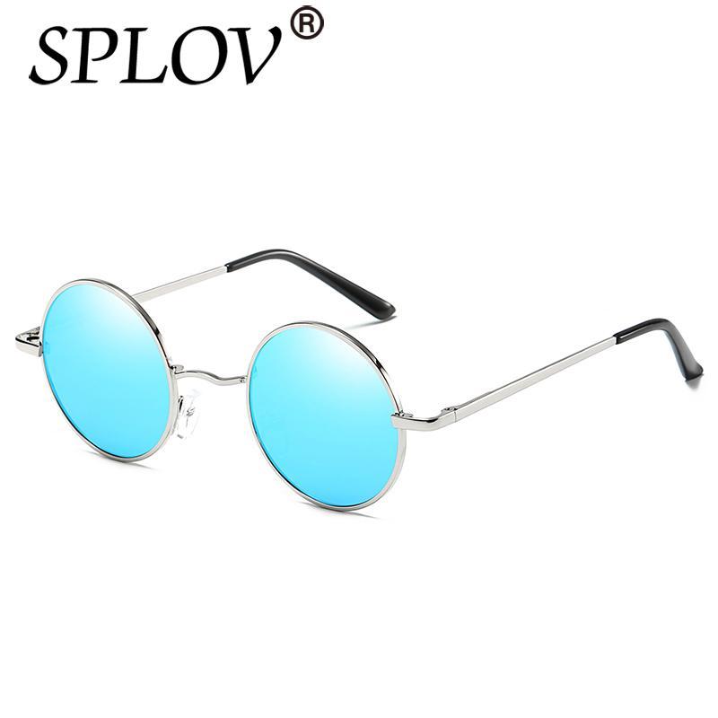 30324d7e3f Compre Nuevo Diseñador De Marca Clásico Polarizado Gafas De Sol Redondas  Hombres Pequeño Vintage Retro John Lennon Gafas Mujeres Conduciendo Metal  Eyewear A ...