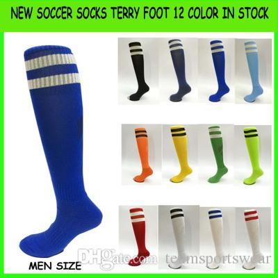 545cfc41c4e 2019 Long Barrel Football Socks Towel Absorbent Anti Slip Children Socks  Knee High Stockings Men Kids Boys Sports Sox Medias De Futbol Ronaldo From  ...