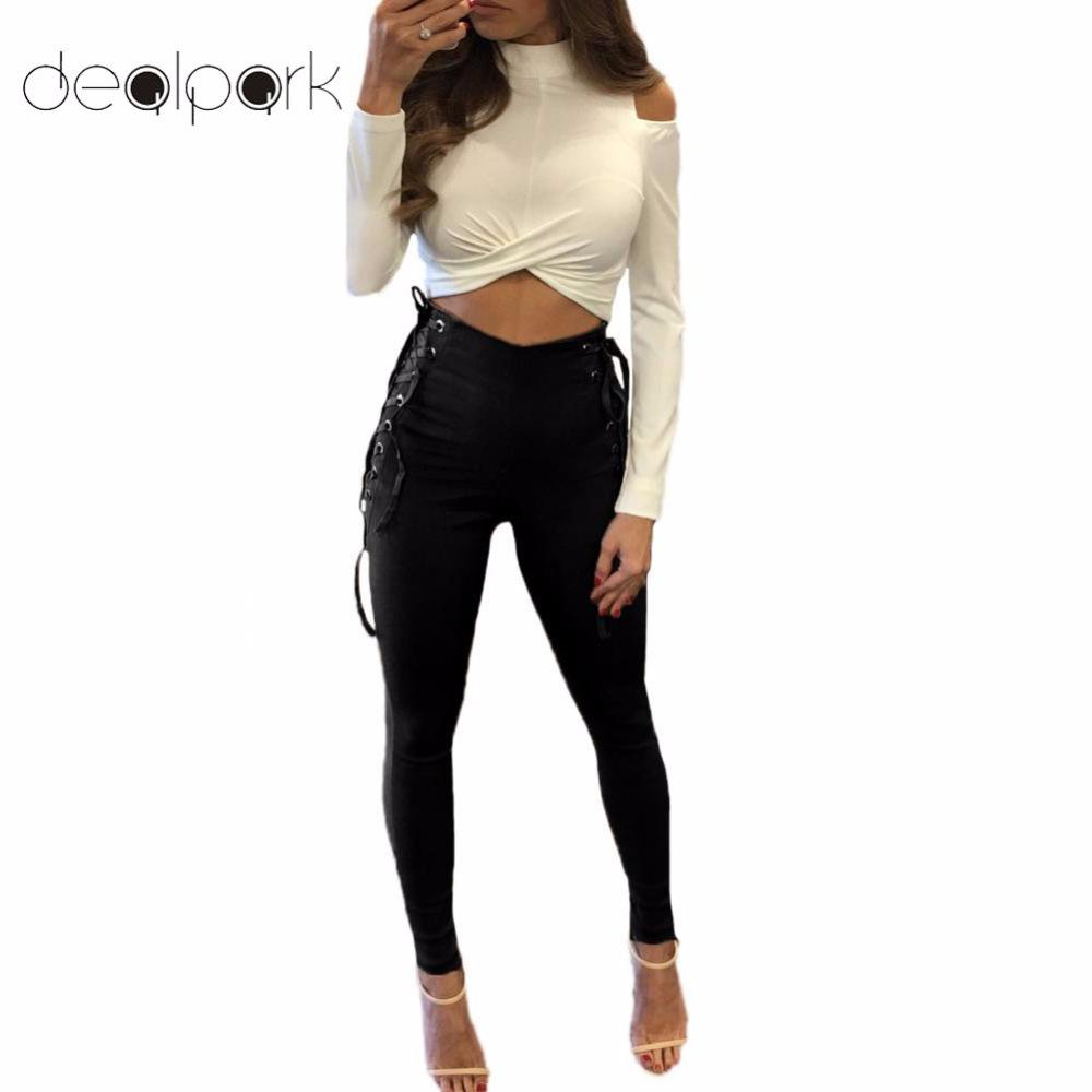 3d68da16181 2019 XXXL 4XL 5XL Plus Size Trousers Women Side Lace Up High Waist Pants  Criss Cross Skinny Tight Pencil Pants Bandage Female Classic From  Yzlwatchfine