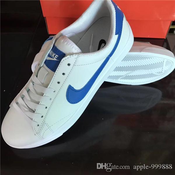 c2dbbab3218 ... Las Mujeres Hombres Zapatos Nuevos Trailblazer Zapatos Moda Smith  Zapatillas De Deporte De Cuero Ocasionales Zapatos Corrientes Envío Gratis  A  18.1 Del ...