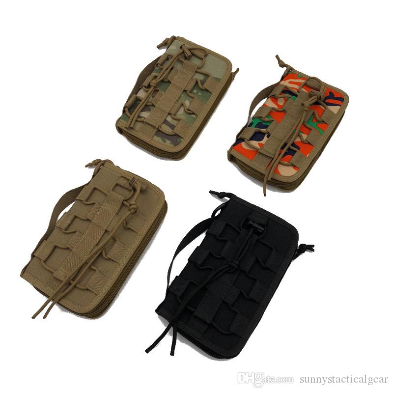 Outdoor Sports Tactical Molle Backpack Vest Gear Accessory Camouflage Multi functional Nylon Tacitcal Tactical Wallet Pack NO11-954