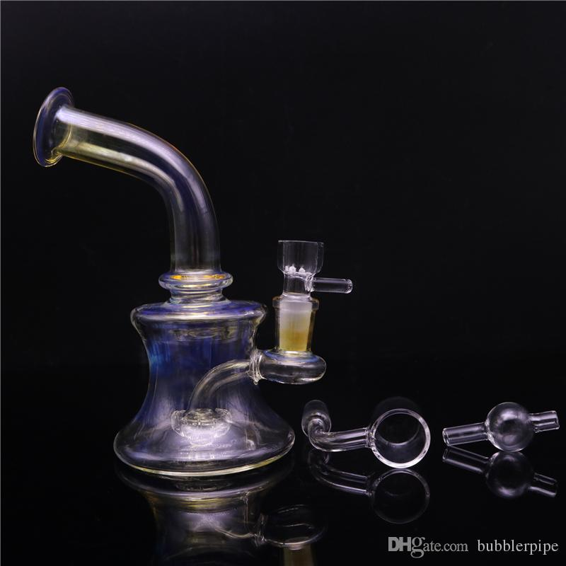 Dab Rigs Heady Glasbongs Percolator Bong Recycler 14mm Glasbecher Bong Water Pipes Bubbler mit Thermal Quarzbange Carb Cap