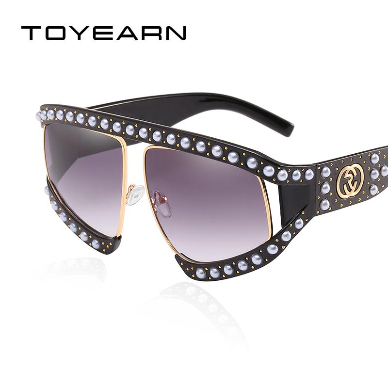 9d16e8351c7 2018 New Luxury Brand Design Ladies Oversized Sunglasses Women Vintage Big  Frame Sun Glasses Female UV400 New Brand Oversized Online with  14.26 Piece  on ...
