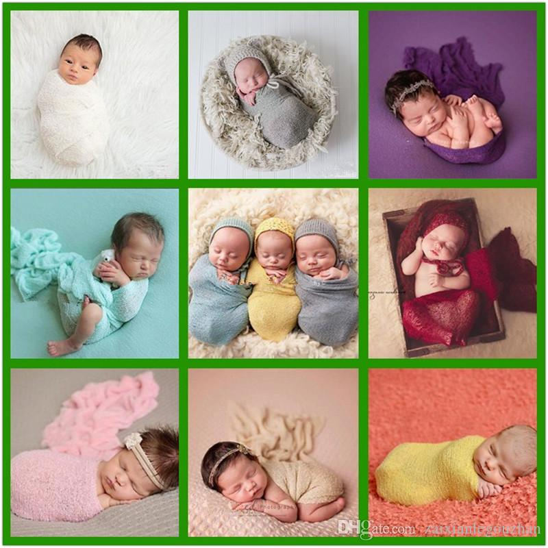 Baby photography props wrap swaddle blankets newborn stretch knit wrap blanket bedding product scarves baby newborn photo props 2018 personalized kids