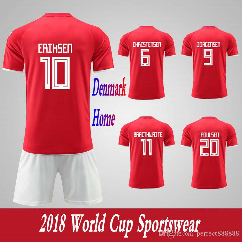 competitive price 00b3b e1445 Men's Clothing Tracksuits Denmark National Team Home Football Sport Suits  2018 World Cup Soccer Uniform Clothes Shorts