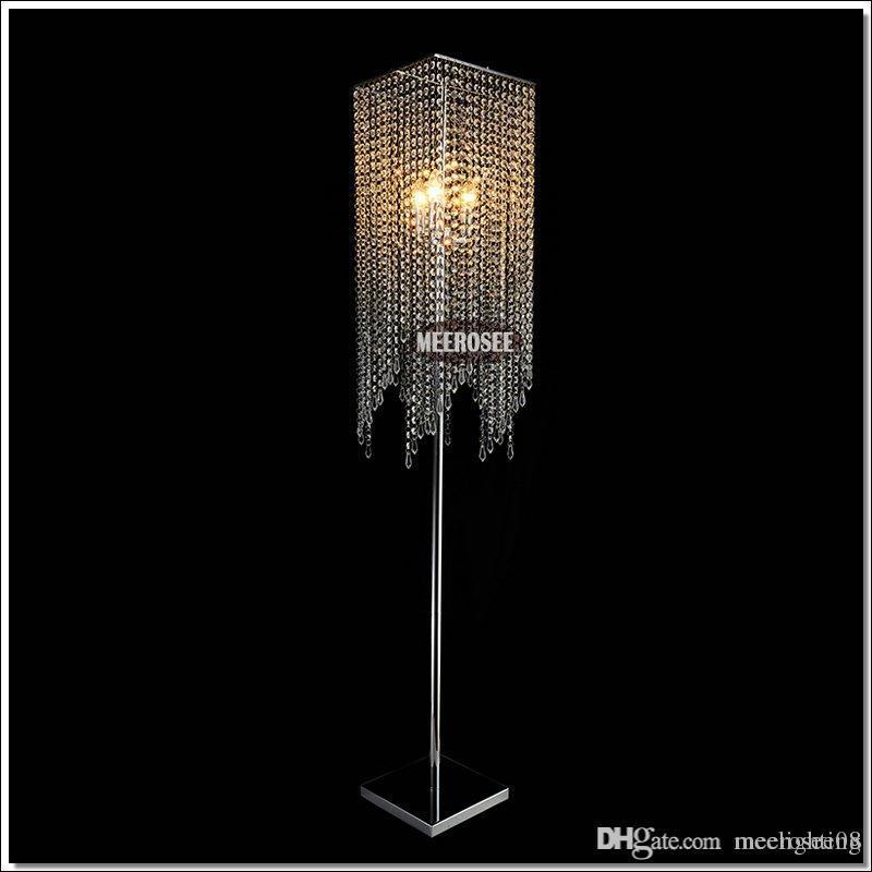 Modern Popular Crystal Floor Lamp Chrome Floor Stand Lighting