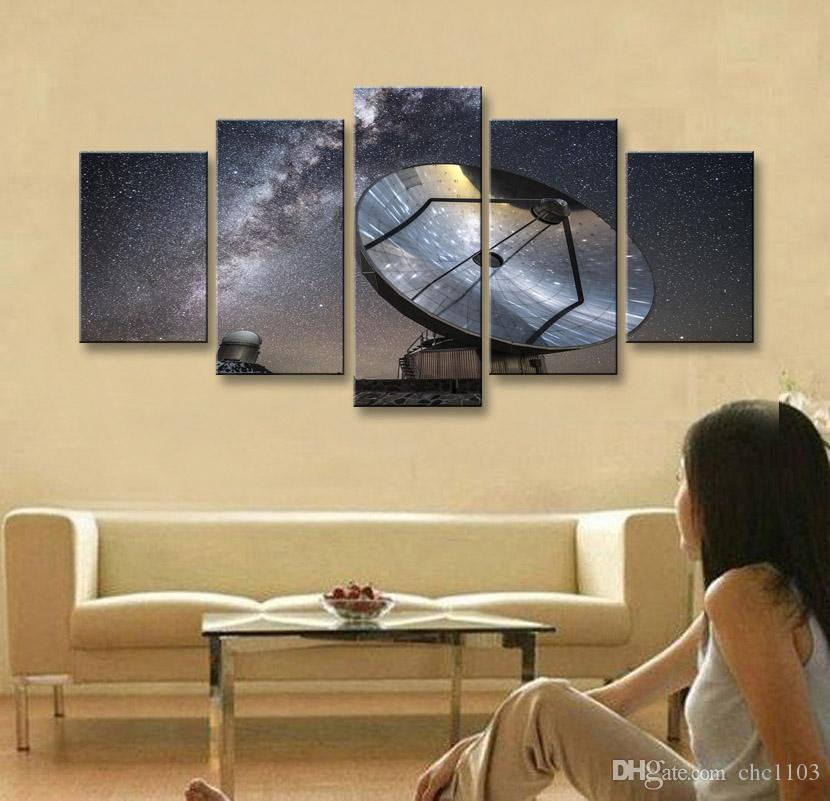 5 parça yüksek çözünürlüklü baskı galaxy fotoğrafçılığı reflectcanvas yağlıboya posteri ve duvar sanatı oturma odası resim XY-029