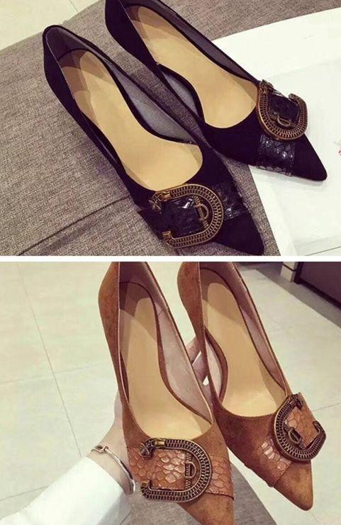 210d7d76 Compre Europeo Volver A Los Zapatos De Moda Antiguos Zapatos De Cuero  Italiano Forro Suave Transpirable Piel De Oveja Muela Arenosa En Tacones A  $79.4 Del ...