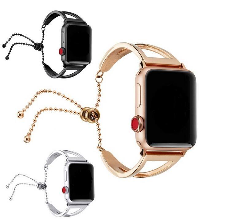 Bracelet Connecté Mercurochrome Bracelet Montre Femme Pour Apple Watch  Bandes 38mm 42mm, Mode Bracelet Acier Inoxydable Pour Bracelet Apple Watch  Série 1 2
