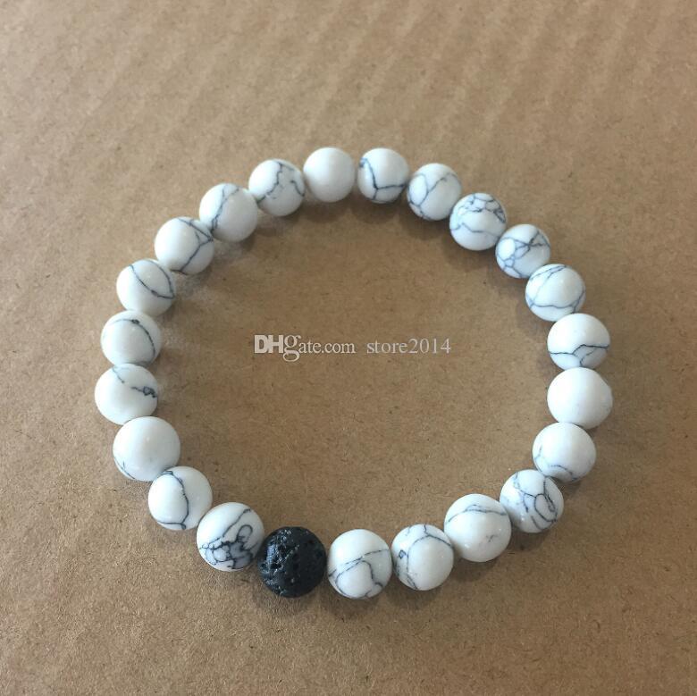 Frauen Männer Natürliche Lava Rock Perlen Chakra Armbänder Healing Energy Stein Meditation Mala Armband Mode Ätherisches Öl Diffusor Schmuck