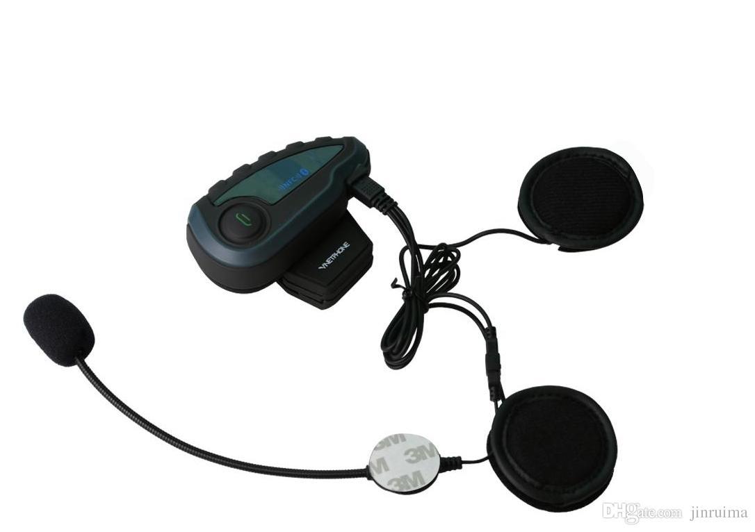 2018-VNETPHONE Helmet Headset Motorcycle Intercom 1200m Helmet Bluetooth Interphone full-duplex 5 people at the same time intercom V8
