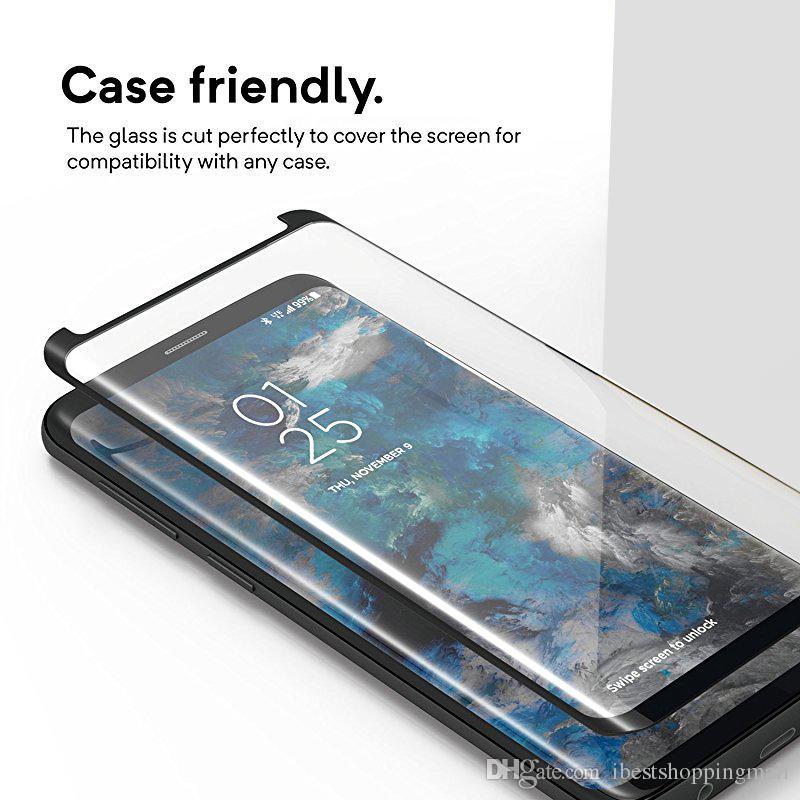Экран хороший закаленное стекло протектор чехол Дружественные Изогнутые 3D для Samsung Galaxy S20 Ультра S10e S8 S9 S10 Plus Примечание 20 10 9 8