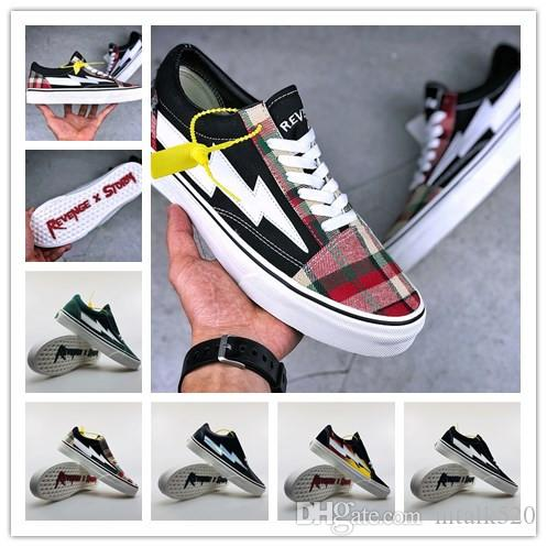 Revenge X Storm Old Skool Canvas Men Shoes Men's Sneakers Skateboarding Sports Shoes Women Skate Shoes Womens Sport Boots outlet real CNUF1eAda