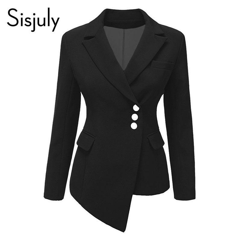 meet db8c1 f15a5 Giacca donna slim fit asimmetrica monopetto slim fit Sisjuly bianca  elegante giacche corte giacche casual da uomo blazer L18101303