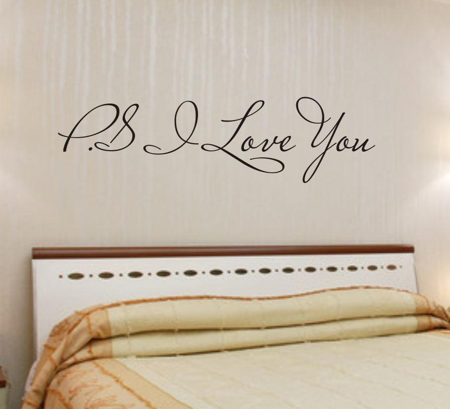 ps i love you quotes wall stickers living bedroom decorations 8017