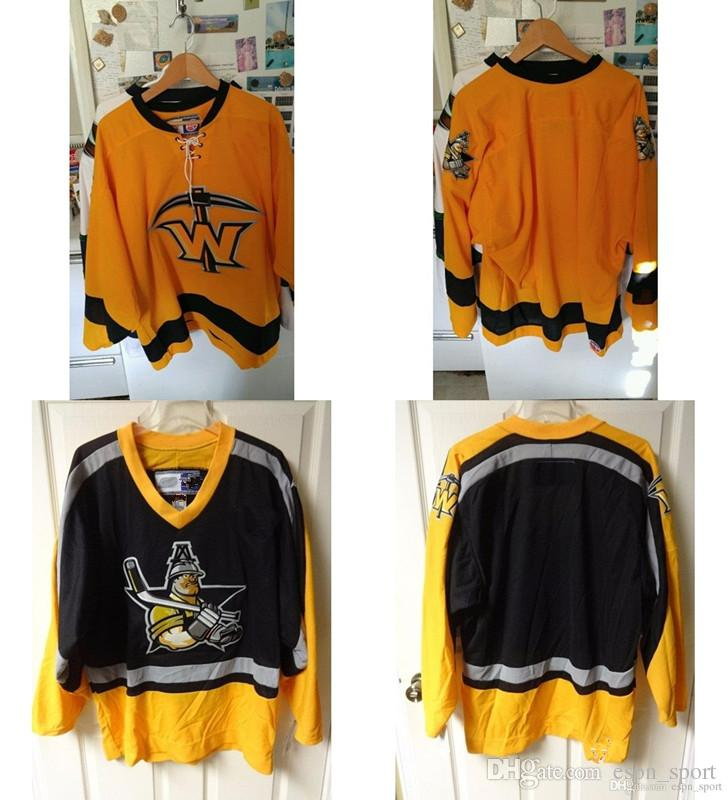 58e6e59ed45 Customize ECHL Texas Wildcatters Mens Womens Kids Yellow Black Hockey  Jerseys Goalit Cut Custom Any Name Any NO. Cheap Jerseys Goalit Cut Jerseys  Texas ...