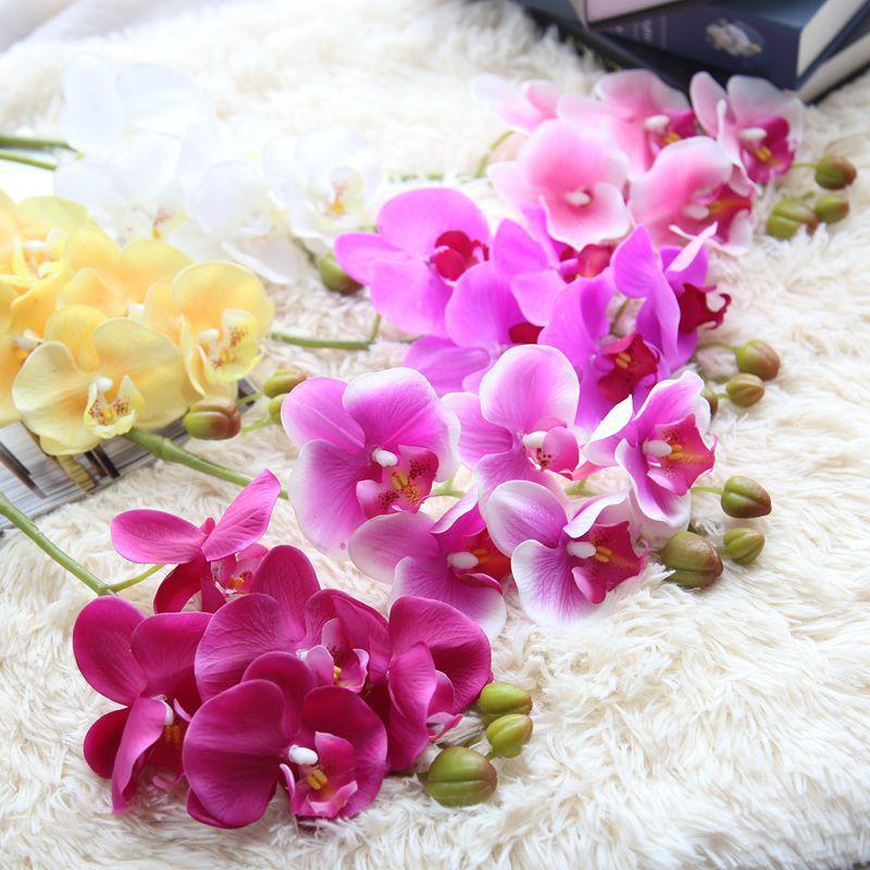2018 Orchid Artificial Flowers Diy Artificial Butterfly Orchid Silk ...