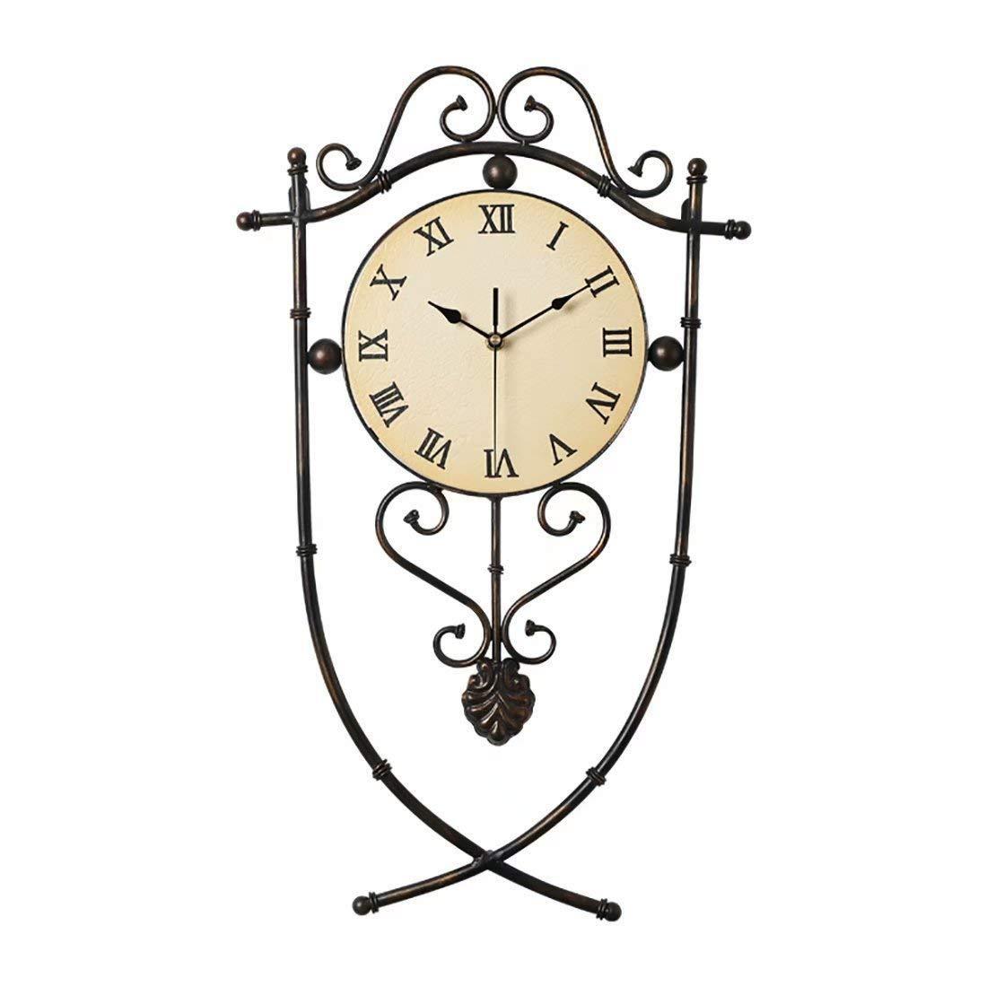 QuarzuhrKreative Dekorative Des Schlafzimmers Europäische Amerikanische Retro Stille WanduhrWohnzimmer Uhr DeEH2I9WY