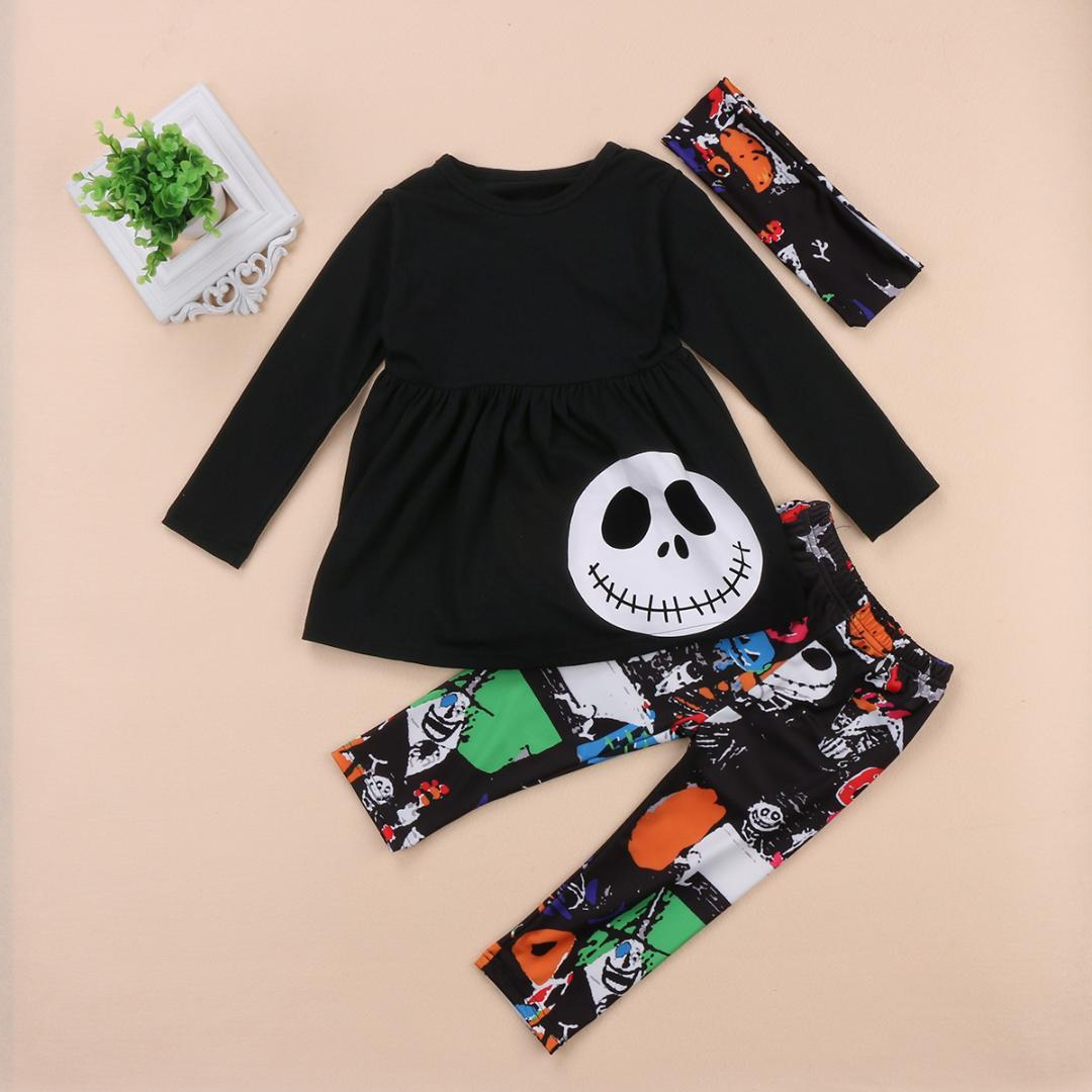 2018 halloween toddler baby kids girls clothes outfits t shirt long