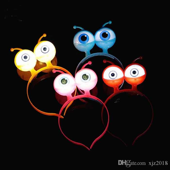 Glitter Eye Hair Band Party Halloween Coiffure Prop Glitter Big Eyes Alien LED Bandeau Livraison gratuite Fabricant Vente Directe LED002