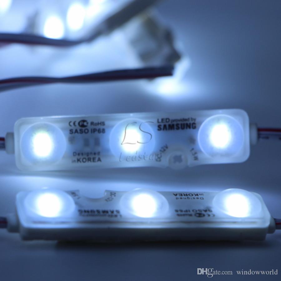 Le module 5630 1.5W 3Leds de signe de LED d'injection IP68 de rétroéclairage imperméable bleu blanc rouge 12V 60lm chaque lumière de publicité