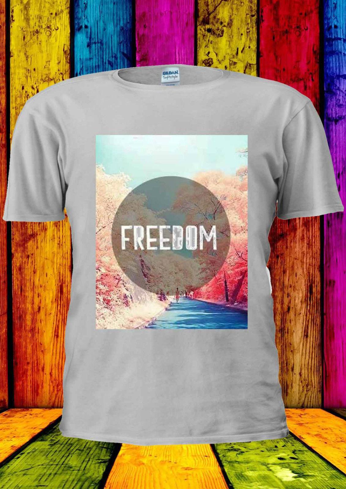 Compre Camiseta Hombres Freedom Tumblr Chaleco Instagram Blogger vrWrqwTRI
