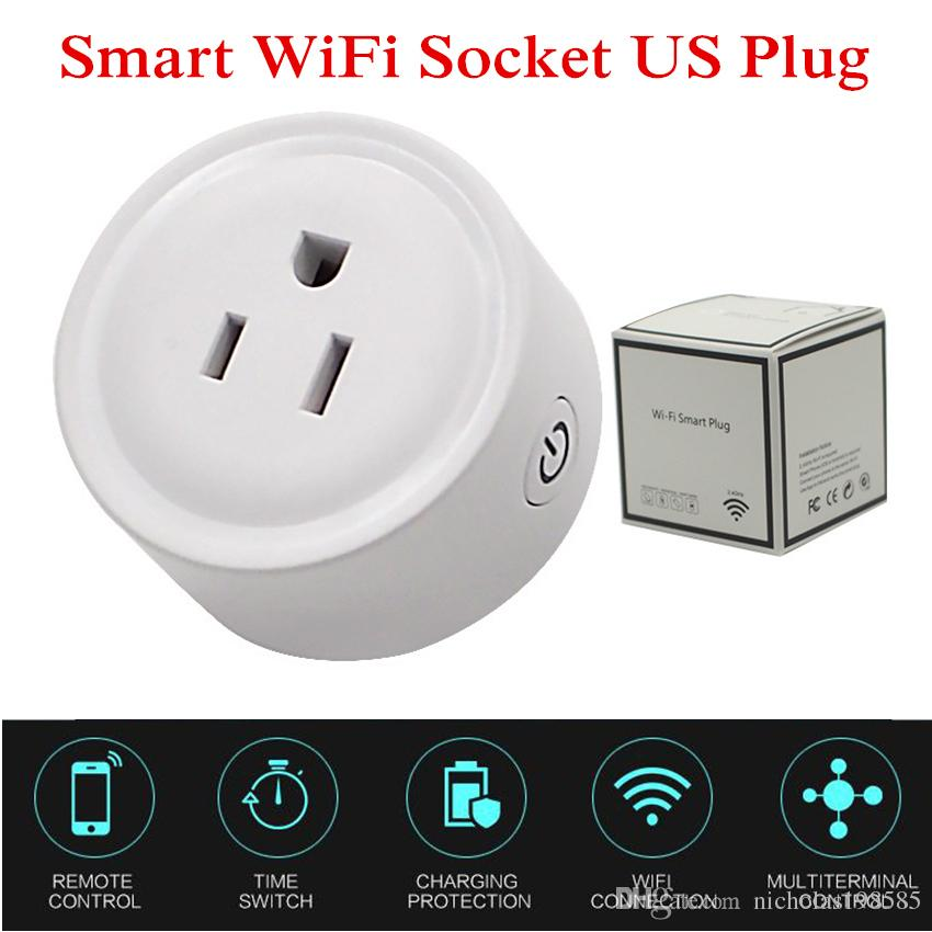 Mini Smart Wifi Wireless Socket Plug Adapter Remote Timer Control Power Strip Timing Switch for Smart Home Automation Electronic System