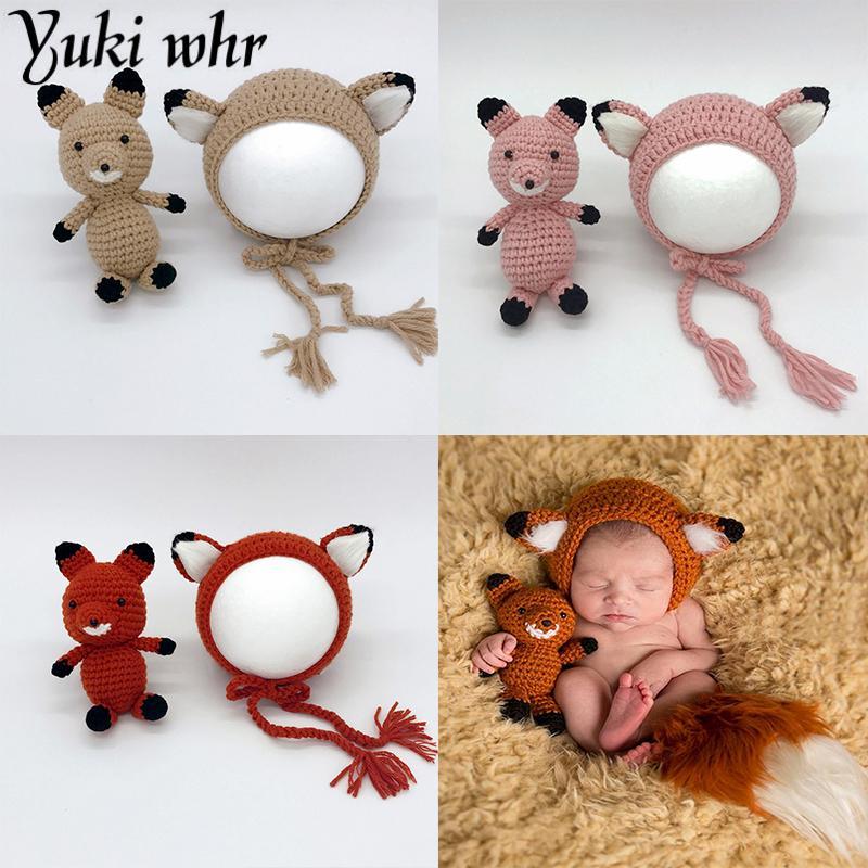 Compre Accesorios De Fotografía Del Recién Nacido Cartoon Fox Baby ...
