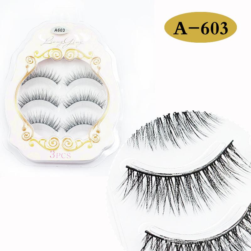 New Arrival 3D Natural Stitch Cross Messy False Eyelashes long makeup 3D Lashes Fake Eye Lashes Extension Make Up Beauty