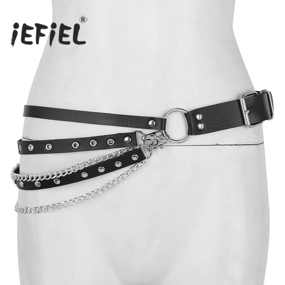 iefiel women punk gothic faux leather adjustable iefiel women punk gothic faux leather adjustable waist harness