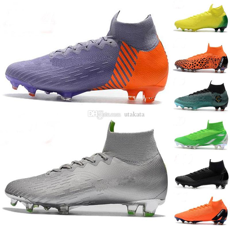 d46ba2aff 2019 Cristiano Ronaldo Youth Soccer Cleats Mercurial Superfly VI 360 Elite  FG SuperflyX 6 Elite TF Kids Soccer Shoes High Ankle Football Boots From  Utakata, ...