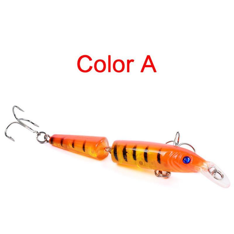 Две секции мускусный Бастер топот приманки 10.5 см 9.6 г 5 цветов гольян пластиковые воблер рыболовные приманки 6 # крючки