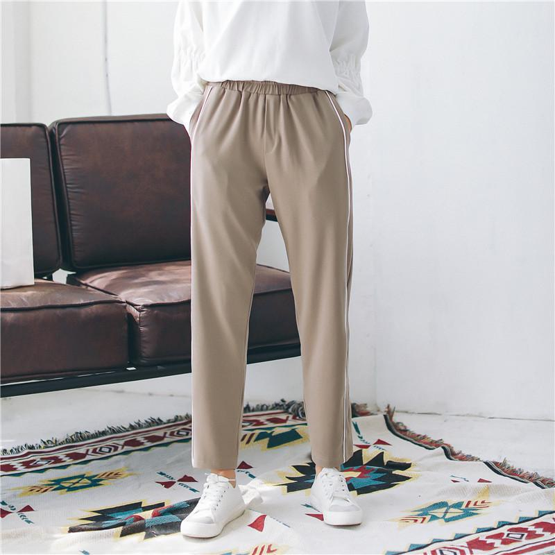 2e232927d477bc Women's Pants Korean Punk Harajuku Ulzzang Fashion Casual Elastic Wind  Trousers Female Cute Japan Kawaii Clothing For Women