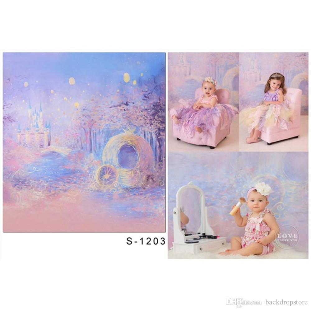 2019 Watercolor Painting Kids Background For Photography Printed