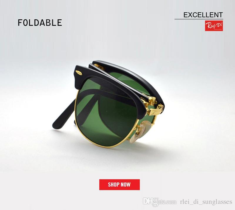 312e704fbe1 2018 New Top Brand Vintage Folding Fashion Club Sunglasses Men Women ...