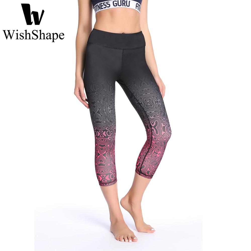 7da1b892a37411 2019 Yoga Pants Sports Elastic Running Tights Sexy Colorful Print Workout  Leggings Fitness With Side Pocket Push Up Jogging Trousers From Lookest, ...