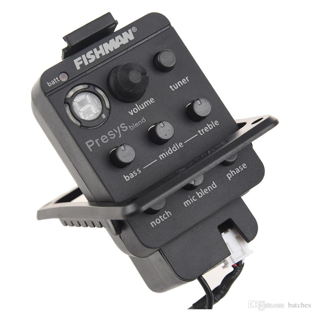 2019 Wholesale 5x Acoustic Guitar Pickup And Preamp Built In Tuner Preamplifier For Microphone Or Use Eq Black