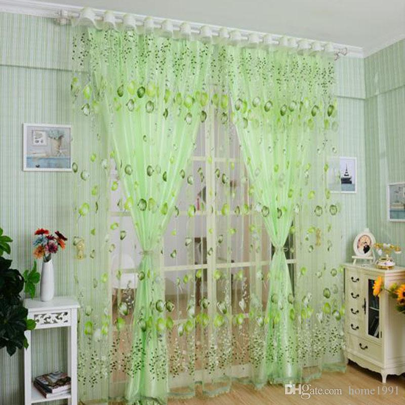 2019 1m 2m window curtains sheer voile tulle living room curtain rh dhgate com