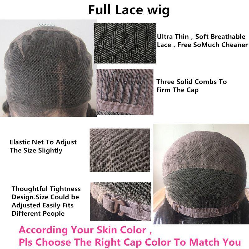 Malaysian Peruvian Brazilian Virgin Human Hair 8-26 inch In Stock Deep Wave Glueless Full Lace Wig/ Lace Front Wigs