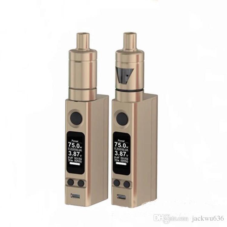 Novo vtc mini 75 w cigarro eletrônico kit regulador de temperatura mod caixa vaper