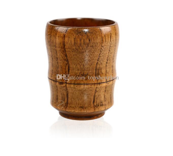 Top-grado retro 5 oz vino copas de madera maciza natural taza de té de madera del vino tazas de cerveza 150 ml de leche tazas de café