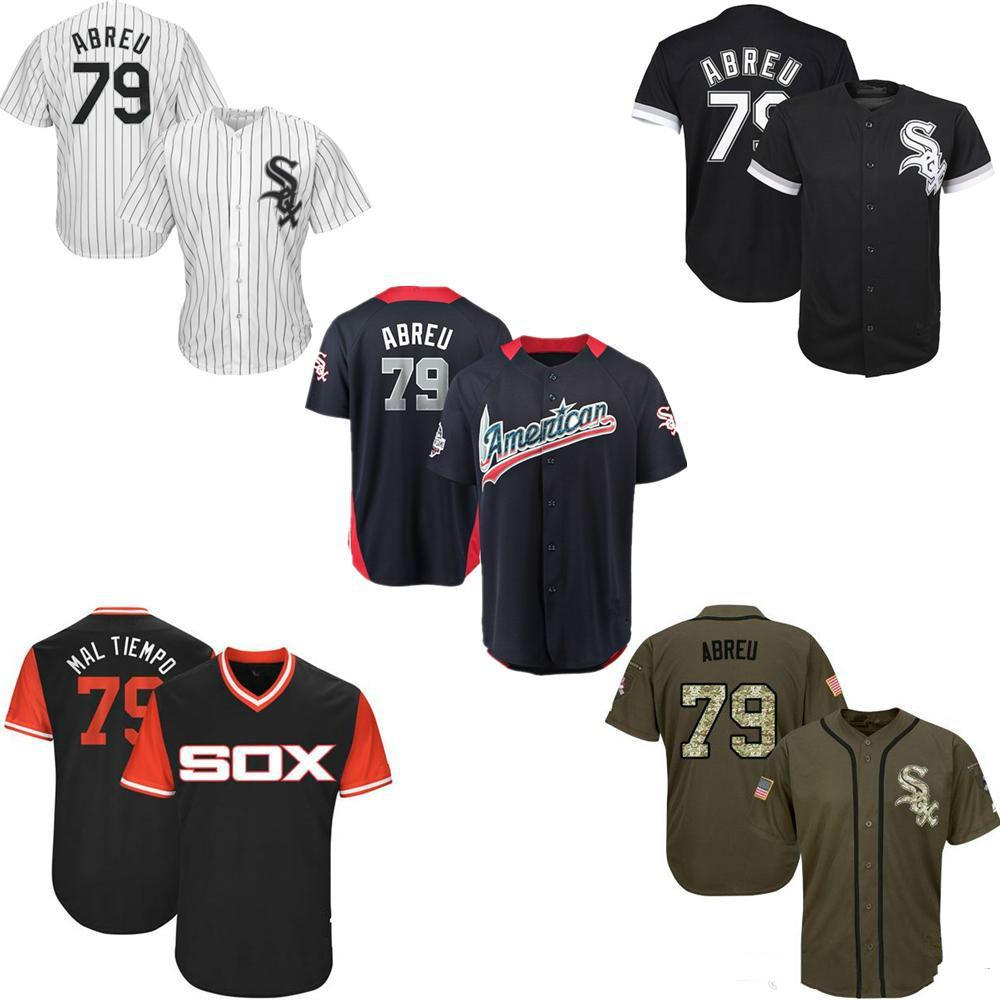 Men Women Youth Kids White Sox Jerseys 79 Abreu Baseball Jerseys ... 7aabb91ee21