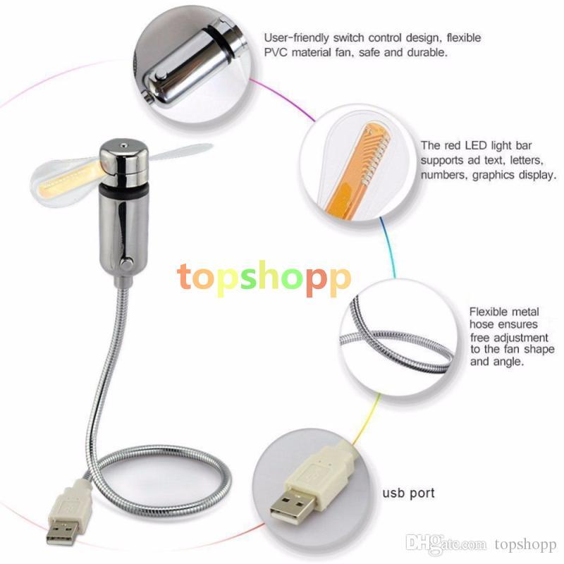 Nuovo gadget USB regolabile durevole Mini LED flessibile USB LED Time Clock Orologio da tavolo Fresco gadget Visualizzazione in tempo reale di alta qualità DHL