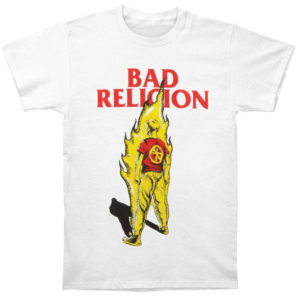 Bad Religion Mens Boy On Fire T Shirt White Awesome Shirt Design