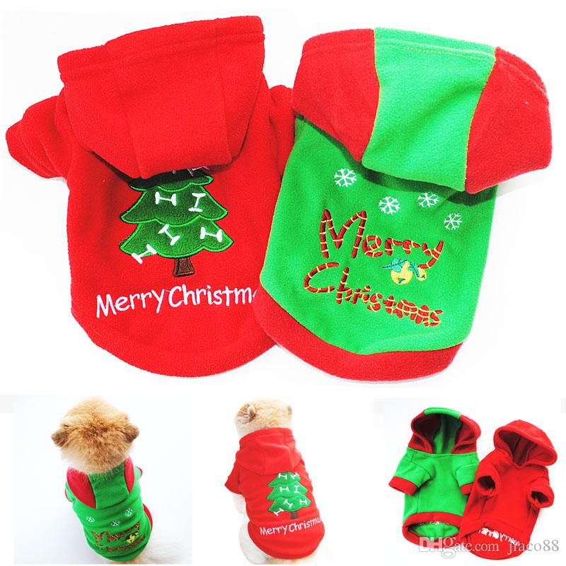 Cute Pet Dog Christmas Gifts Clothes Red & Green Dog Apparel Polar ...