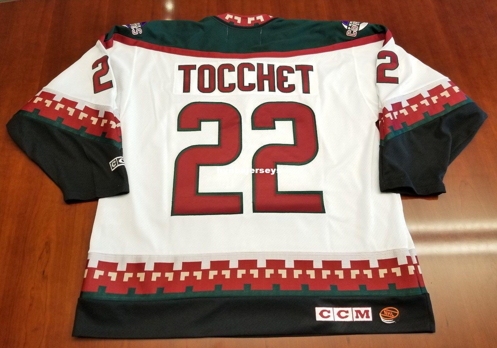 d12d9fa02 Custom Rick Tocchet Vintage Phoenix Coyotes CCM Cheap Hockey Jersey ...