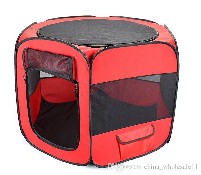 Mix and Match Welcome ACI-470 Portable Folding Pet tent Dog House Cage Dog Cat Tent Playpen Puppy Kennel Easy Operation Octagonal Fence outd